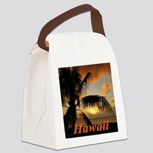 Sunset North Shore Oahu Canvas Lunch Bag