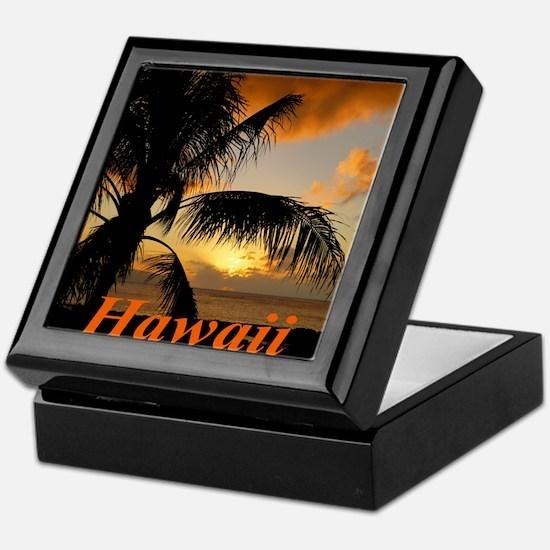Sunset North Shore Oahu Keepsake Box