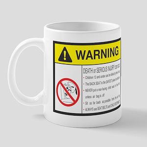 MX5 Visor WARNING Sticker Mug