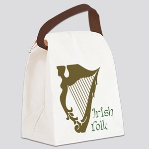 Irish Folk Canvas Lunch Bag