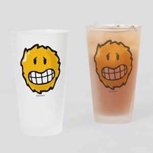 frazzled smiley Drinking Glass