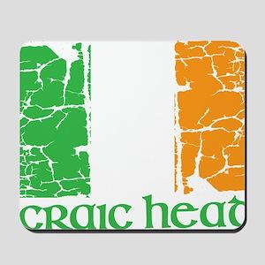 irish flag craic head st. patrick's day Mousepad