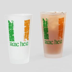 irish flag craic head st. patrick's Drinking Glass