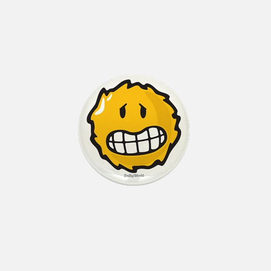 frazzled smiley Mini Button