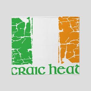 irish flag craic head st. patrick's  Throw Blanket