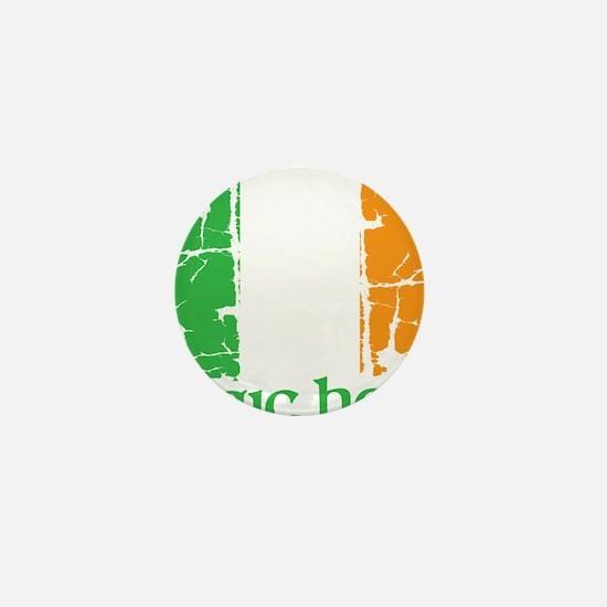irish flag craic head st. patrick's da Mini Button