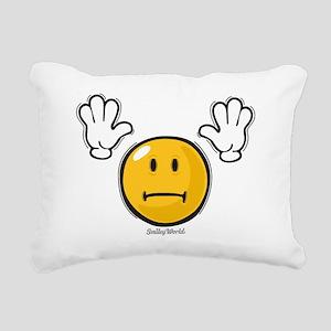 fright smiley Rectangular Canvas Pillow