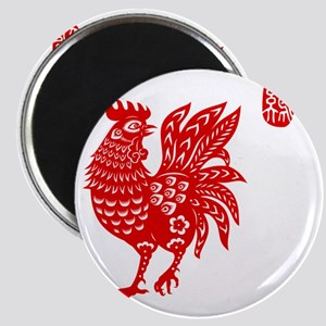 Asian Rooster Magnet