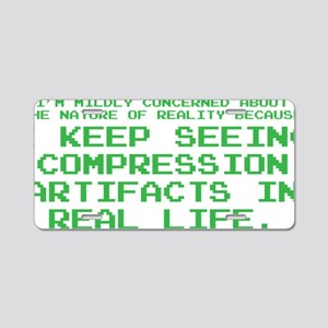 Compression Aluminum License Plate