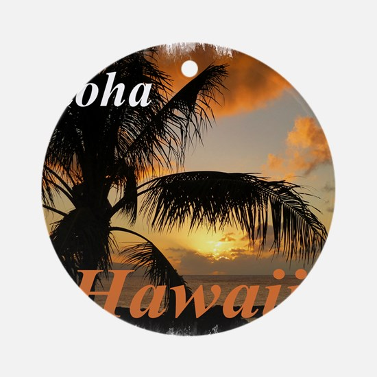 Sunset North Shore Oahu Round Ornament
