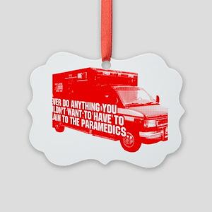 Paramedics Picture Ornament