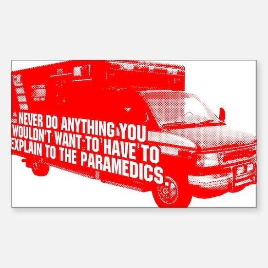 Paramedics Sticker (Rectangle)