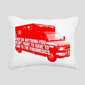 Paramedics Rectangular Canvas Pillow