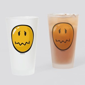 Troubled smiley Drinking Glass