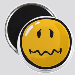 Troubled smiley Magnet