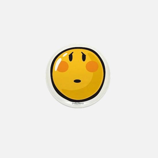 Timid smiley Mini Button