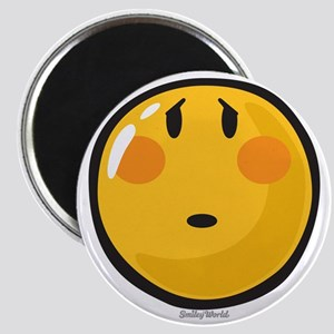 Timid smiley Magnet