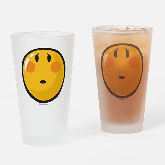 Timid smiley Drinking Glass