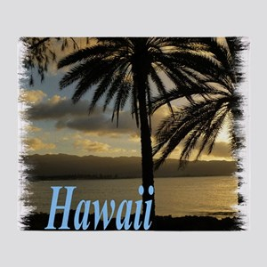 Sunset Haleiwa, Oahu Throw Blanket