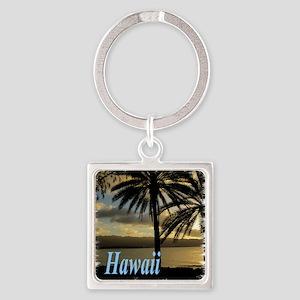 Sunset Haleiwa, Oahu Square Keychain