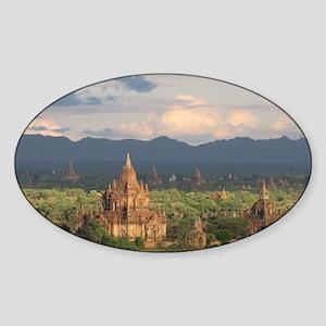 Bagan city of pagodas 1 Sticker (Oval)