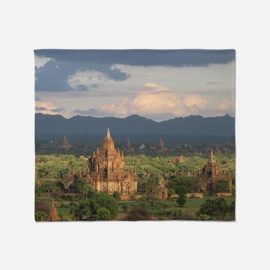 Bagan city of pagodas 1 Throw Blanket