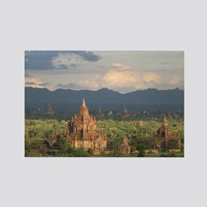 Bagan city of pagodas 1 Rectangle Magnet