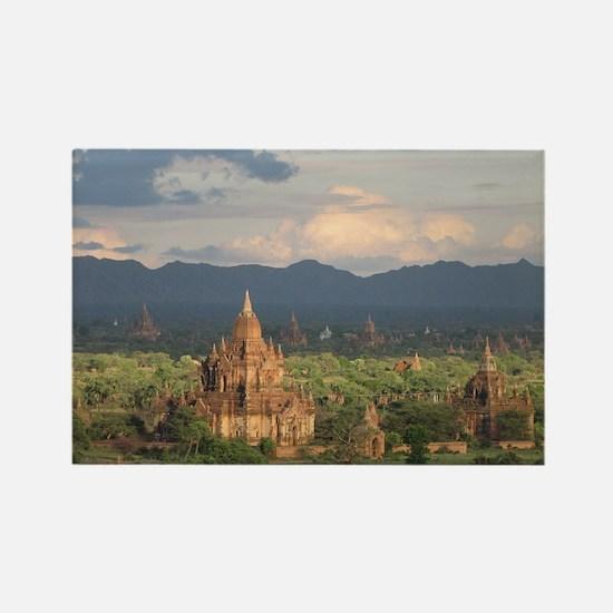 Bagan city of pagodas 1 Rectangle Magnet
