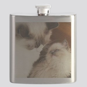 Ragdoll Mother and Child round2 Flask