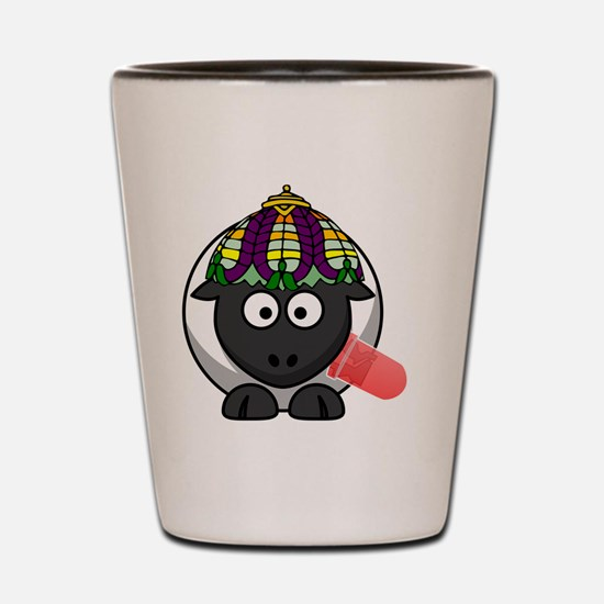 Lamp Sheep Shot Glass