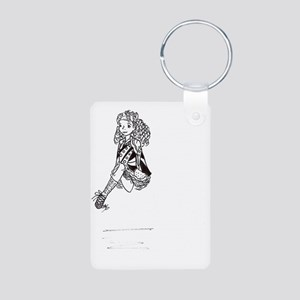Irish Dancer Leaping Aluminum Photo Keychain