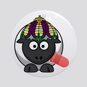 Lamp Sheep Round Ornament