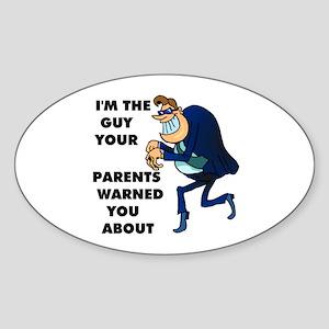I'M THE GUY Oval Sticker