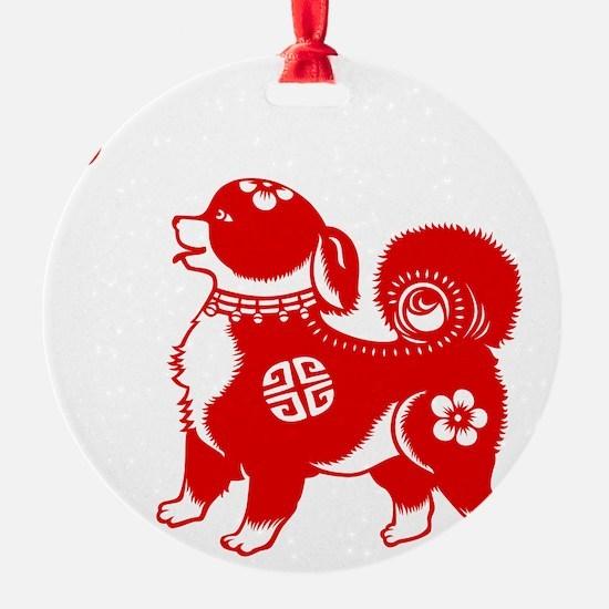 Asian Dog Ornament