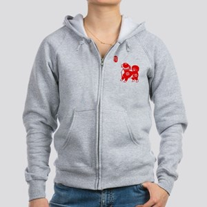 Asian Dog Women's Zip Hoodie