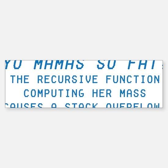 Yo Mama Sticker (Bumper)