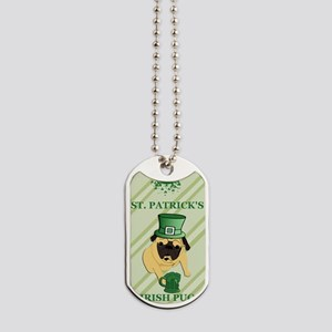 Funny St. Patricks Irish Pug Dog Tags