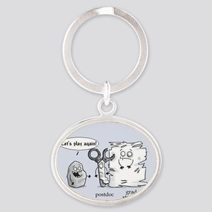 Paper Rock Scissors Oval Keychain