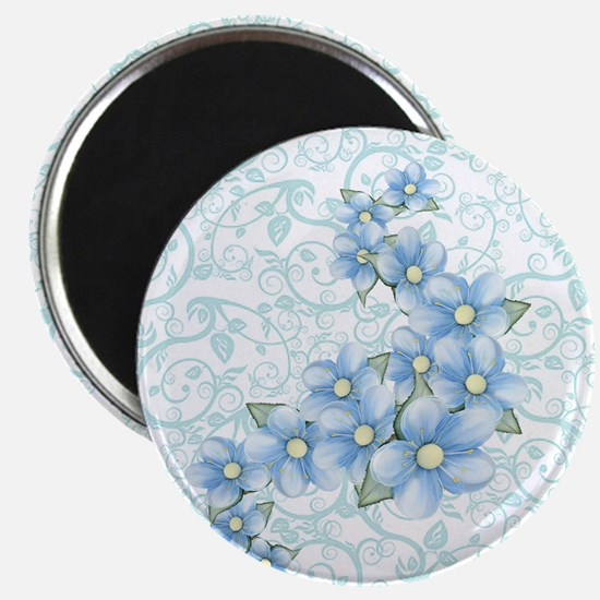 baby blue flowers Magnet