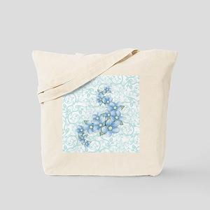 baby blue flowers Tote Bag