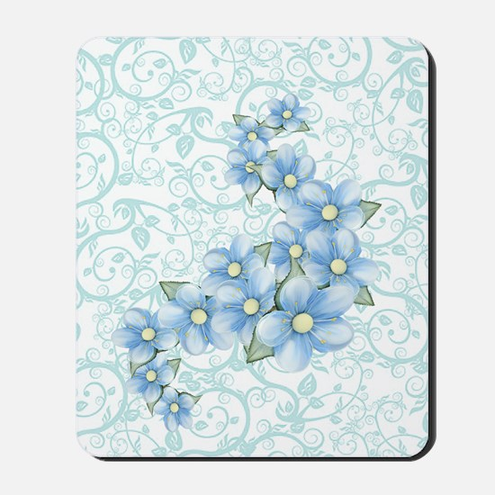 baby blue flowers Mousepad