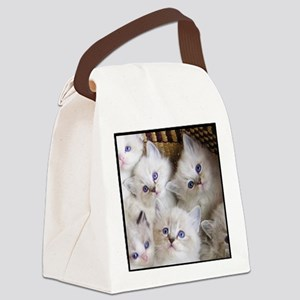 Cup o Kittens round Canvas Lunch Bag