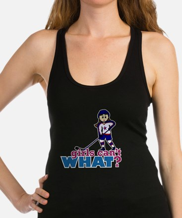 Girl Hockey Player Racerback Tank Top