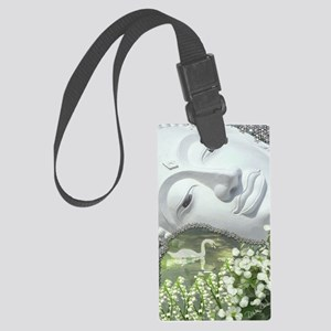 In the Garden - Quan Yin Flowers Large Luggage Tag