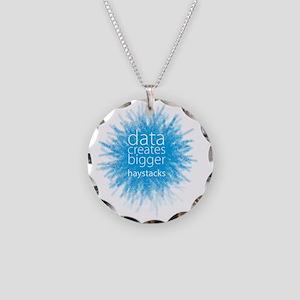 Data Creates Bigger Haystack Necklace Circle Charm