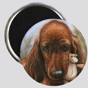 Irish Setter Pup by Dawn Secord Magnet