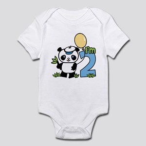 Lil' Panda Boy 2nd Birthday Infant Bodysuit