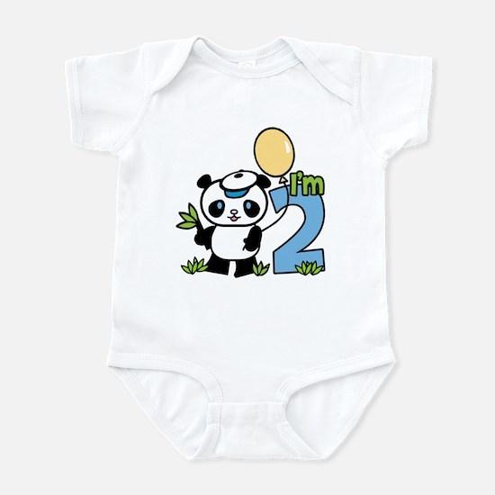 Lil' Panda Boy 2nd Birthday Infant Bodysuit