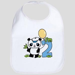 Lil' Panda Boy 2nd Birthday Bib