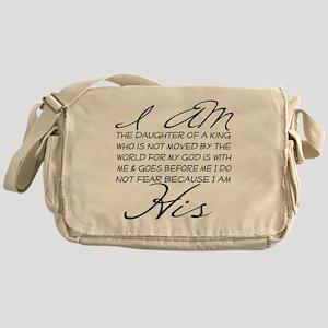 I am His script letters Messenger Bag